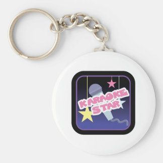 karaoke star key chains