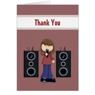 Karaoke Thank You Cards