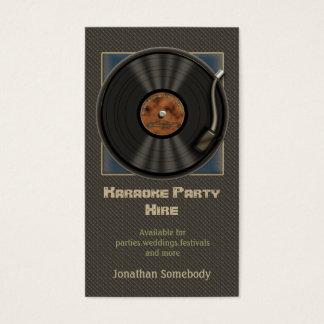 Karaoke Vinyl Record Logo Business Cards