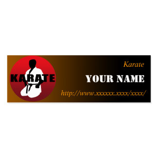 KARATE 01 BUSINESS CARD TEMPLATE