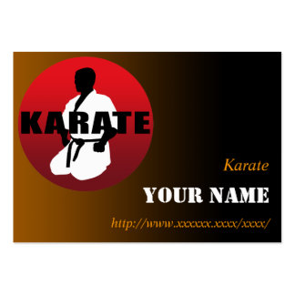 KARATE 01 PACK OF CHUBBY BUSINESS CARDS