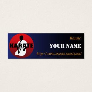 KARATE 01 MINI BUSINESS CARD