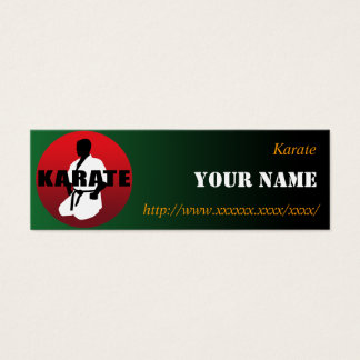 KARATE 01 MINI BUSINESS CARD
