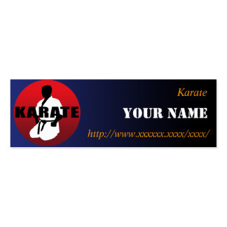 KARATE 01 PACK OF SKINNY BUSINESS CARDS