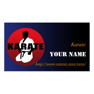 KARATE 01 PACK OF STANDARD BUSINESS CARDS