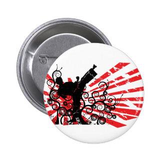 Karate 6 Cm Round Badge