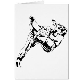 Karate and a judo. Technics of throws Greeting Card