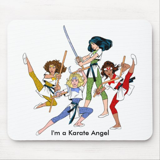 Karate Angels mouse pad