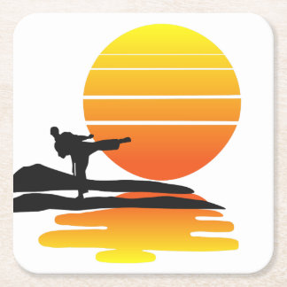 Karate At Sunset Coaster