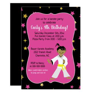 Karate Birthday Invitations Yellow Belt