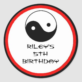 Karate Birthday Party Favor Labels