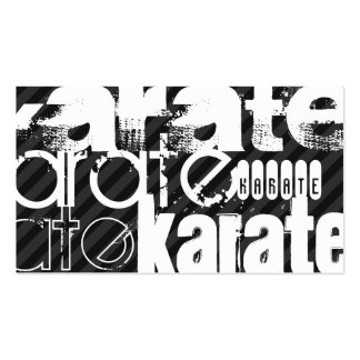 Karate; Black & Dark Gray Stripes Pack Of Standard Business Cards