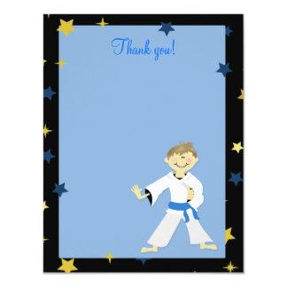 KARATE BOY Blue Belt 4x5 Flat Thank you note Card