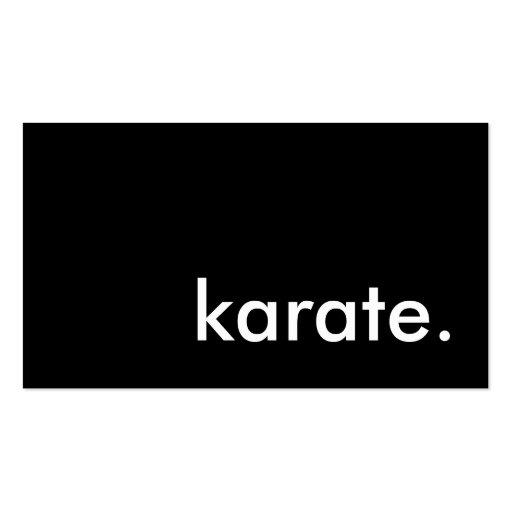 karate. business card templates