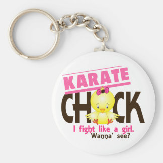 Karate Chick 1 Basic Round Button Key Ring