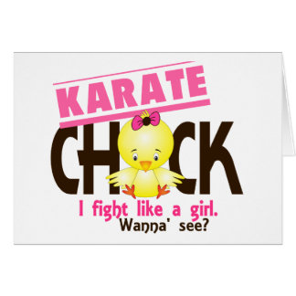 Karate Chick 1 Greeting Card