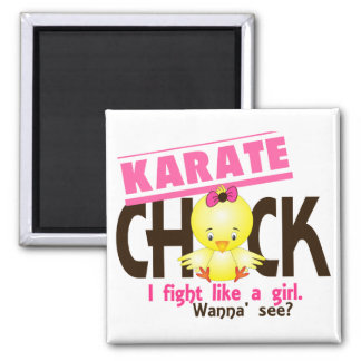 Karate Chick 1 Square Magnet