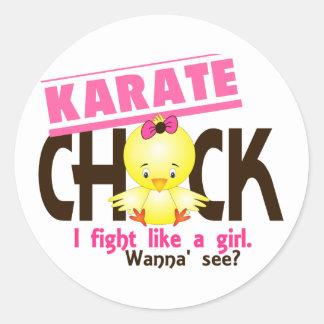 Karate Chick 1 Round Sticker