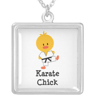 Karate Chick Sterling Silver Necklace