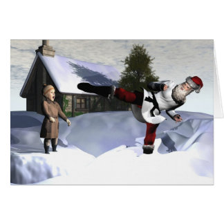 Karate Claus Card