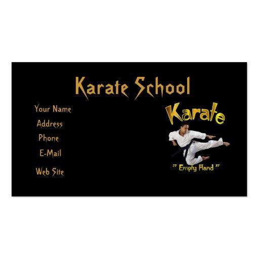 Karate customizable business card