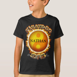 Karate-do Front Dark Personalized Kid's T-Shirts