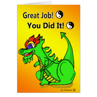 Karate Dragon Green Belt Promotion Greeting Card