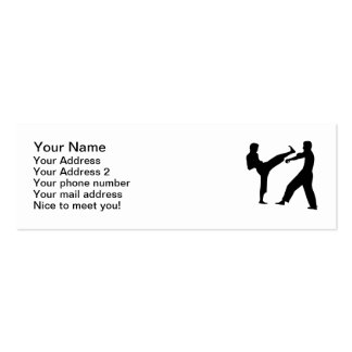 Karate fighters business card