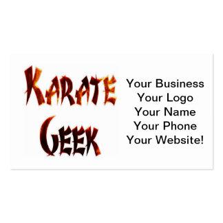 Karate Geek Fire Pack Of Standard Business Cards