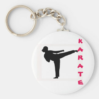 Karate Girl Key Chain