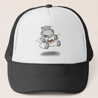 Karate Hippo Trucker Hat