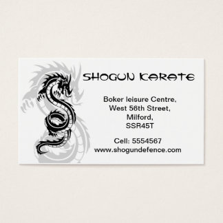 Karate Instructor Business card