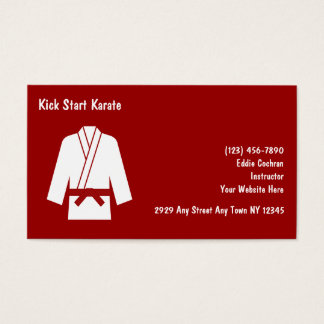 Karate Instructor Business Cards