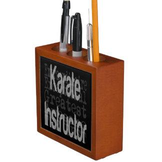 Karate Instructor Extraordinaire Desk Organiser