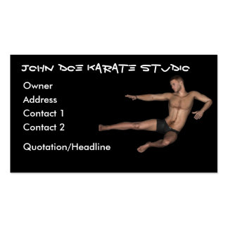 Karate Instructor Professional Business Cards