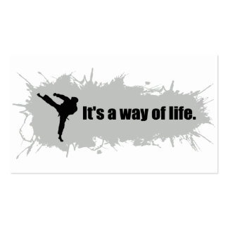 Karate is a Way of Life Pack Of Standard Business Cards