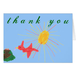 Karate Kat Graphics bird's nest thank-you Card