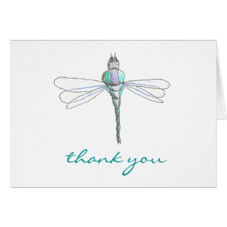 Karate Kat Graphics dragonfly thank-you Card