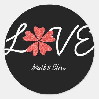 Karate Kat Graphics love-in-bloom wedding seal Round Sticker