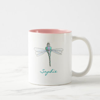 Karate Kat Graphics personalized dragonfly mug