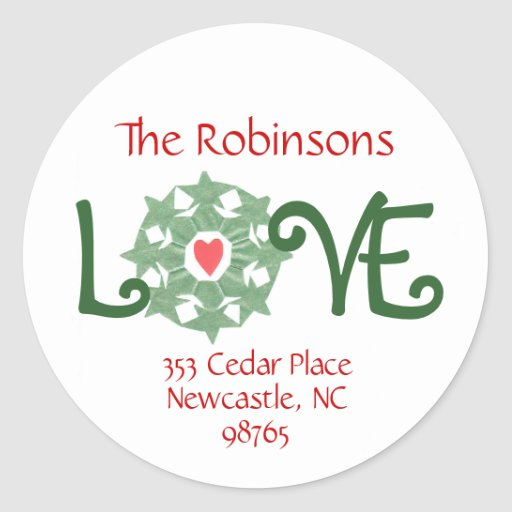 Karate Kat holiday return-address labels Round Stickers