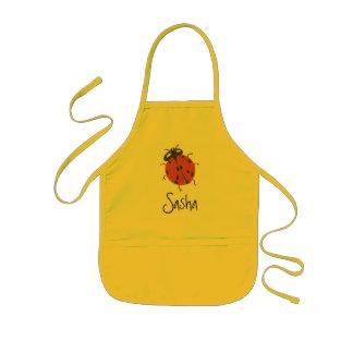 Karate Kat ladybug apron--to personalize Kids Apron