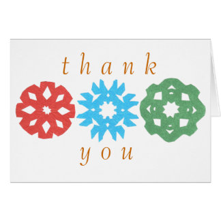 Karate Kat snowflake trio thank-you Card