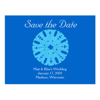 Karate Kat winter wedding save-the-date Postcard