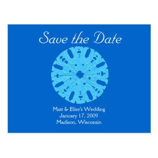 Karate Kat winter wedding save-the-date Post Cards