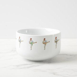 Karate Kicking Martial Arts Customizable Soup Mug
