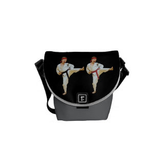 Karate Kicking Rickshaw Mini Zero Messenger Bag