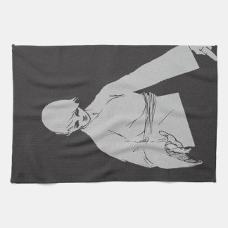 karate kid illustration martial art man boy japan tea towel