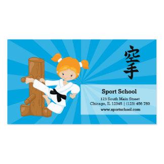 Karate kids pack of standard business cards