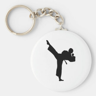 Karate Martial Arts Basic Round Button Key Ring